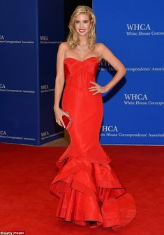 Red hot! Ivanka Trump set pulses racing at the White House Correspondents' Dinner on Saturday, 25 April 2015