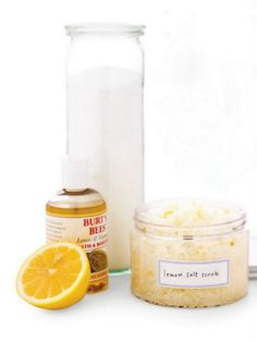 DIY salt body scrub - 2 cups of salt (Epsom salt, sea salt, kosher salt or table salt),   1 cup of body oil (lavender body oil contains several essential oils but you can simply use any oil you have in your home),  Essential oils (lavender, jazmin or rose...etc)