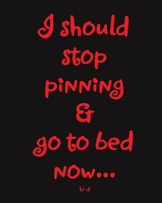 But I can't sleep... Lol