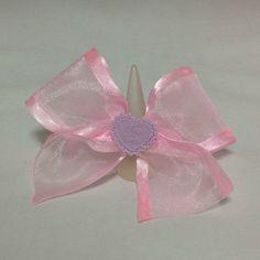 Tea Party Ribbon Heart Chiffon Bow Ring from Pastel Skies - Lolita Desu
