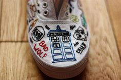 Hand Embroidered Doctor Who Shoes  by Eclectic Wonderland