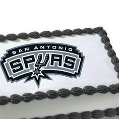 san antonio spurs cakes   NBA San Antonio Spurs Edible Cake Decoration Spurs Cake, Edible Cake Decorations, Boy Birthday, Birthday Ideas, San Antonio Spurs, Baby Shower Cakes, Cake Cookies, Amazing Cakes, Party Planning