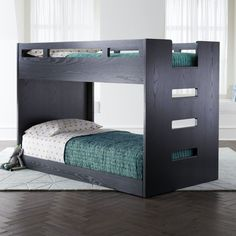 Shop Abridged Charcoal Glaze Low Twin Bunk Bed.  We've created a Bunk Bed with more space saving capabilities than ever before.  No, we didn't use magic.  We just scaled it down a bit.