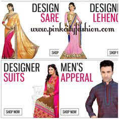 Pink City Fashion – Live the traditions and cultures of India!! We are happy to help you. Shop from the large collection of best Indian traditional dresses including designer sarees, lehenga, suits, Bollywood Replica, men's apparel and women's gown with brightest Indian Colors!! Visit us at bit.ly/1C6tyi7.