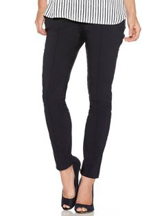 M&Co. Women Slim fit ribbed trousers