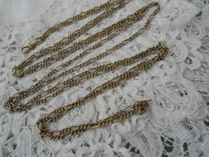 Antique muff chain 1910 by Nkempantiques on Etsy, €28.00