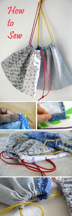 Cute DIY Drawstring Bag Tutorial   http://www.free-tutorial.net/2016/12/cute-diy-drawstring-bag-tutorial.html