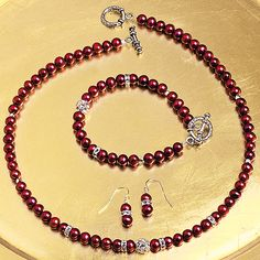 Crimson Freshwater Pearl Collection Smithsonian Winter 2015 Catalog