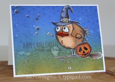 Halloween card showcasing the awesome Tim Holtz Bird Crazy, Crazy Things and…