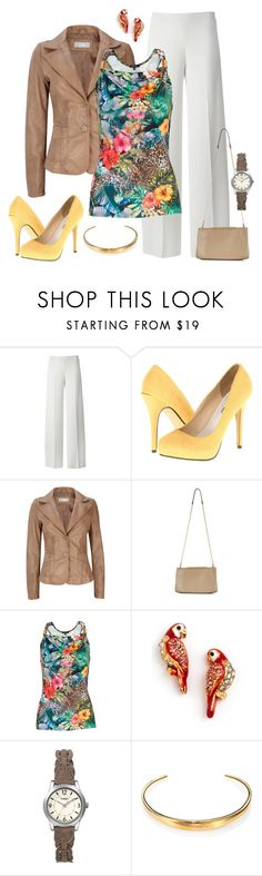 """""""Parrot #3"""" by mwaldhaus ❤ liked on Polyvore featuring P.A.R.O.S.H., Michael Antonio, Wallis, Jaeger, Morgan, Juicy Couture, Timex and Michael Kors"""