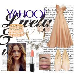 #yahoostyle by edithtoth on Polyvore featuring Marchesa, MAC Cosmetics, contestentry and yahoostyle Marchesa, Mac Cosmetics, Polyvore, Stuff To Buy, Outfits, Shopping, Collection, Design, Women