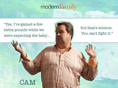 Cam on his weight (Dec 2012) #camerontucker #ericstonestreet #modernfamily #modernfamilyquotes #sitcoms #tvquotes