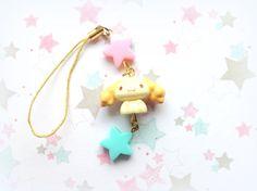 Anime Cinnamoroll pastel stars cute phone charm  by CreaBia