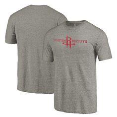 Houston Rockets Distressed Logo Tri-Blend Long Sleeve T-Shirt - Gray - $29.99