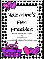 Valentine's Games FREEBIE - 2 Cute Valentine's Board Games - a gift from Fun Games 4 Learning. Enjoy!