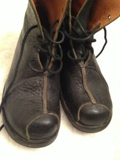 Avant Garde Handmade Leather Black Boots Cydwoq Size 37 1 2 | eBay