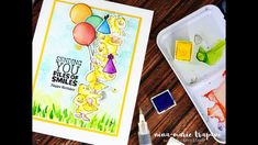 Watercolor Birthday Scene