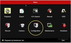 Hikvision DVR Configuration Menu Digital Video Recorder, Software, Menu, Technology, Learning, Menu Board Design, Tech, Studying, Tecnologia