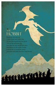 The Hobbit Poster by MINIMALISTPRINTS on Etsy