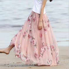 Glorious Spell Bound Woman Crinkled Gauzy Long Full Broomstick Pull-on Skirt Vivid And Great In Style Clothing, Shoes & Accessories