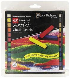Jack Richeson Square Jackson Pastels (Set of 48), Assorted