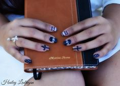 Revelation nails with my cheetah print bible from the Snell's :)