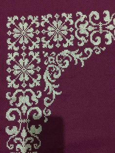 This Pin was discovered by Hül Cross Stitch Borders, Cross Stitch Designs, Cross Stitching, Cross Stitch Embroidery, Hand Embroidery, Cross Stitch Patterns, Embroidery Designs, Crochet Patterns, Crochet Cross