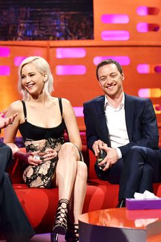 "mcavoys: ""  Jennifer Lawrence and James McAvoy during The Graham Norton Show on May 9, 2016. """