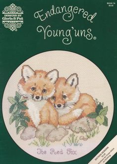 Endangered-Young-uns-Gloria-amp-Pat-Cross-Stitch-Patterns-79-Foxes-Monkeys-Lions