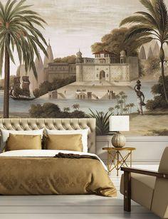"Papier peint panoramique ""Varanasi"" sépia Ananbô"