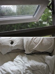 Rainy outside, cozy inside.
