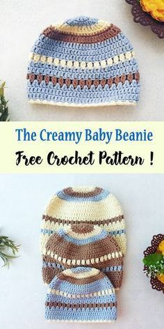 The creamy crochet baby beanie is the perfect set up of a crochet beanie with a flexibility for colo&; The creamy crochet baby beanie is the perfect set up of a crochet beanie with a flexibility for colo&; Crochet Beanie Hat Free Pattern, Crochet Baby Hat Patterns, Crochet Baby Beanie, Crochet Kids Hats, Crochet Baby Clothes, Baby Patterns, Booties Crochet, Crochet Baby Hats Free Pattern, Apron Patterns
