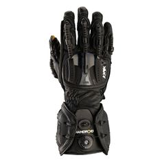 Knox handroid motorcycle gloves - black - Free Delivery - http://playwellbikers.co.uk/motorcycle-gear/knox-handroid-motorcycle-gloves-black/