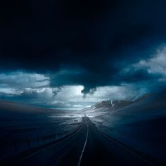 Iceland, Road into the deep blue -