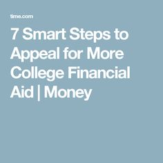 writing appeals for financial aid for school