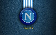 Download wallpapers Napoli FC, 4k, Italian football club, Serie A, emblem, logo, leather texture, Naples, Italy, Italian Football Championships, SSC Napoli