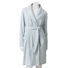 NWT Ladies Croft & Barrow® Printed Pointelle Short Wrap Robe - Size Small #CroftBarrow #Robes