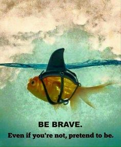 Always be brave, trust yourself