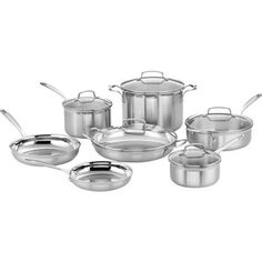 Cuisinart® Tri-Ply Stainless Steel 12-pc Cookware Set