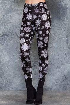 Black Milk Clothing. Let It Snow Leggings. Size S