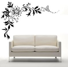 Add this beautiful floral wall sticker decal to your room!    Wall decals and stickers are an inexpensive and unique way to transform any room!