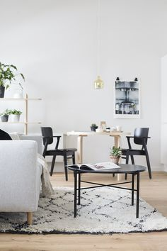 Living Room Kitchen, Living Room Interior, Home Living Room, Scandinavian Living, Living Styles, Marimekko, Small Spaces, Sweet Home, New Homes