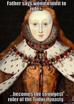 A Domino factum est illud et est mirabile in oculis nostris Queen Elizabeth I Ap European History, History Major, Tudor History, Women In History, British History, Asian History, Strange History, Elizabeth I, History Jokes