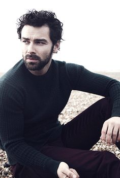 Aidan Turner...I could just spread him on a cracker! Yum!
