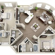 The Elizabeth is the largest floor plan that Elizabeth Square has to offer. This stunning 2 bedroom, 2 bathroom has - Zimmer - Sims House Plans, Small House Plans, House Floor Plans, Home Design Plans, Plan Design, Home Interior Design, Diy Interior, Bathroom Interior, Design Bathroom