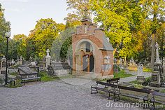 Rakowicki Cemetery, one of the best known cemeteries of Poland, located in the centre of Krakow, Poland.