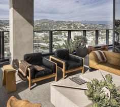 KELLY WEARSTLER | INTERIORS. Outside seating, Hollywood Proper Residences Penthouse.