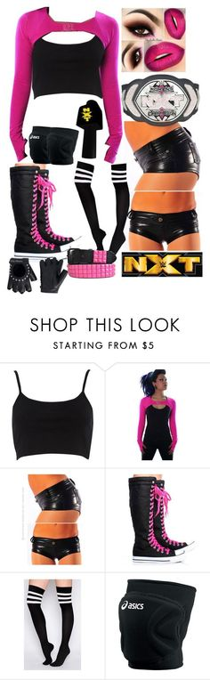 """NXT Women's Champion"" by thedarkestofhearts ❤ liked on Polyvore featuring River Island, Asics and Harley-Davidson"