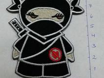 Applikation Ninja, Bügelbild Ninja, Aufnäher Ninja