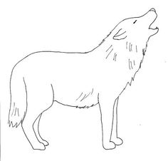 Image detail for -... step by step drawing page, you'll be creating the wolf drawing above